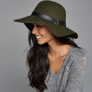 Abercrombie & Fitch olive wide brim hat